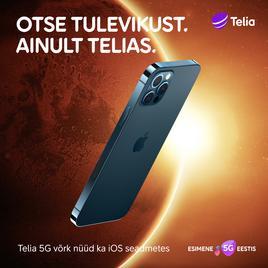 Telia 5G võrgus saab ainsana Eestis kasutama hakata iPhone'i 5G telefone