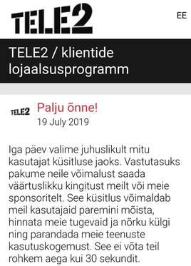 Ettevaatust! - Levimas on uus Tele2 logoga petuskeem