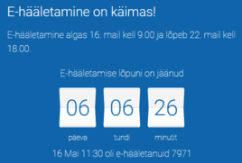 Algas Euroopa Parlamendi valimiste elektrooniline hääletamine