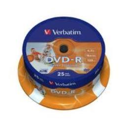 Verbatim DVD-R prinditav 4.7GB 16X 25pack cake box