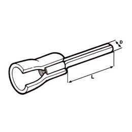 Elematic  Kahvel M3 0,25...1,5mm² juhtmele, Red 100tk