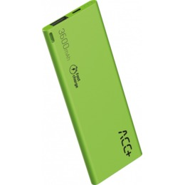 ACC Power Bank ACC+ THIN 3600 mAh zielony (ACC+POWERBANKTHIN3600GR)