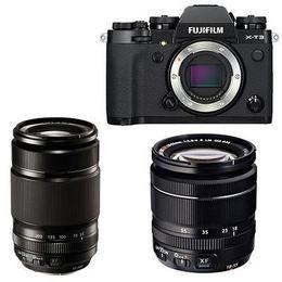 Fujifilm X-T3 + 18-55mm + 55-200mm Kit Black