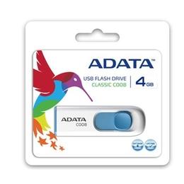 ADATA USB 2.0 Flash Drive 8GB White C008, Retail