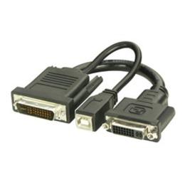 Lindy Üleminek DVI + USB - P&D (M1-DA, EVC) 0.2m (projektorile)