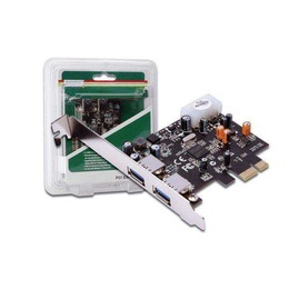 Digitus USB 3.0 PCI Express Add-on Card, 2-pordiga