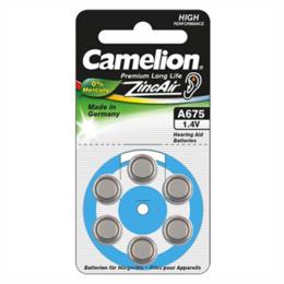 """Camelion  Zinc Air Celles 1.4V A675/ZL675, 6-pack, """"no mercury"""""""