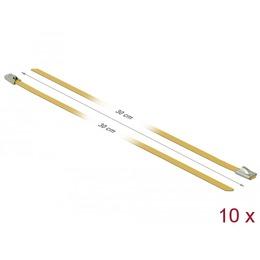 Delock Kaablisidemed 300x4,6mm, terasest, kollased (10tk)