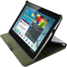 """4World kaaned Protective Case/Stand for iPad Mini ECO leather 7"""" Black"""