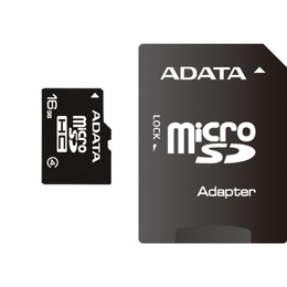ADATA microSDHC Card Micro SDHC 16GB Class 4 Adapt