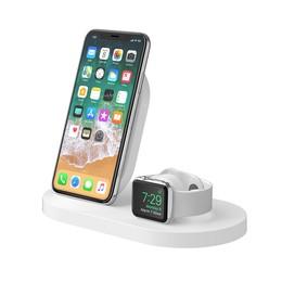 Belkin Dock Station BoostUp Wireless dock iPhone+Watch+USB-A White