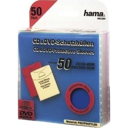Hama  1x50 CD-/DVD- Protective Sleeves coloured 33801