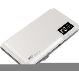 Silicon Power S103 Power Bank 10000mAH, microUSB, USB, LCD, White