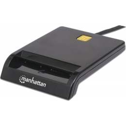 Manhattan Smart Card Reader - USB, Contact Reader - External (102049)