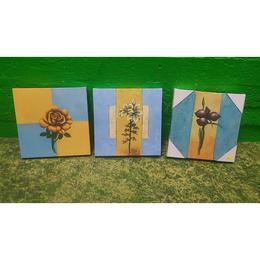Valik Väiksemaid Lille Pilte Lõuendil (kasutatud)