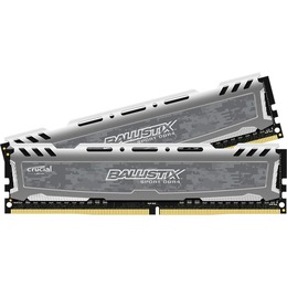 Crucial DDR4 PC4-19200 2400MHz 8GB CL16 (16-16-16)(Kit of 2) Ballistix Sport LT