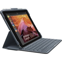 Logitech klaviatuur slim Folio (5th/6th gen), KeyboardDock for Apple iPad, black, UK