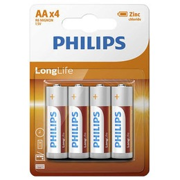 Philips Aku R6L4B / 10 LONGLIFE 4 tk
