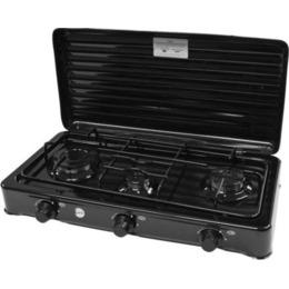 Smile Gas stove 3-Burner Black KN-03/1KB
