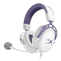 Kingston HyperX Cloud Alpha, Mänguri peakomplekt - White/Purple - Limited Edition (HX-HSCA-PL)