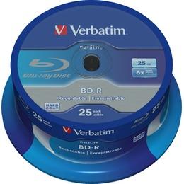 Verbatim Blu-Ray BluRay BD-R Single layer DATALIFE [ Spindle 25 | 25GB | 6x