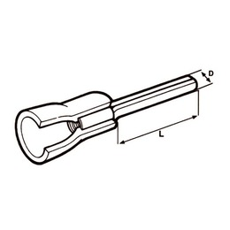 Elematic  Kahvel M5 0,25...1,5mm² juhtmele, Red 5,3x10,0mm 100tk