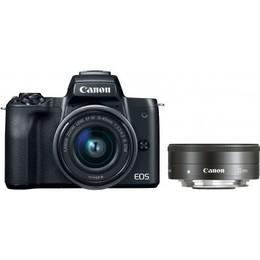 Canon EOS M50 + EF-M 15-45mm IS STM + EF-M 22mm STM Black