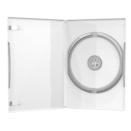 CD/DVD karp 1-le, õhuke (7 mm), läbipaistev