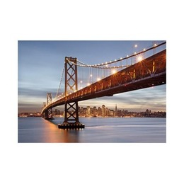 No Brand  Fototapeet 8-733 Bay Bridge 368x254cm