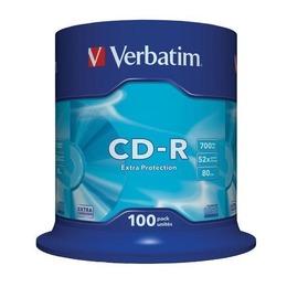 Verbatim CD-R 80/700MB 52X 100pack extra pRedection cake box