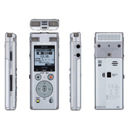 Olympus  Digital Voice Recorder DM-720 Rechargeable, 18mm round dynamic speaker/ 150mW, PCM/MP3, Silver, Stereo/Tresmic, Microphone connection, MP3 playback