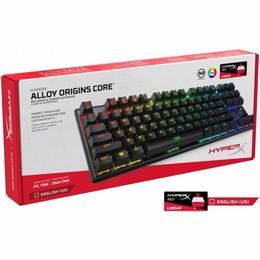 Kingston HyperX Alloy Origins, LEDs RGB, HyperX RED, USB, US