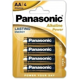 Panasonic Patarei Power Bronze Alkaline AA (LR6APB), 4-pack