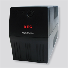 AEG  UPS Protect alpha. 600/ 600VA, 360W/ 4x IEC-320 battery backup and overvoltage protection