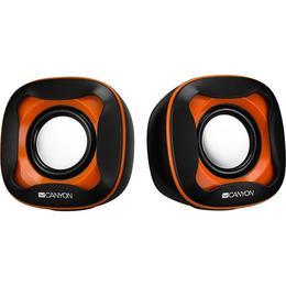 Omega OG15B Digital Stereo Multimedia Desktop 2.0 Speakers 2x 3W with 3.5mm Audio / USB Power Black