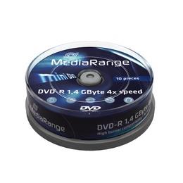 MediaRange mini DVD-R   (8cm) 1,4 Gb/4x Cake 10