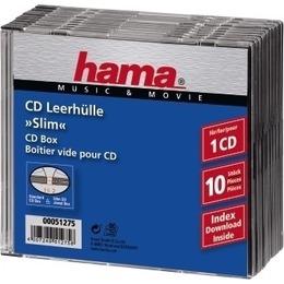 Hama  1x10 CD-Slim Jewel Case clear/black 51275