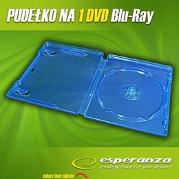 Esperanza CD/DVD karp BLU RAY Box 1 Blue 10 mm ( 100 Pcs. PACK)