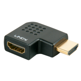 Lindy Adapter HDMI (M) - (F), nurgaga paremale, must