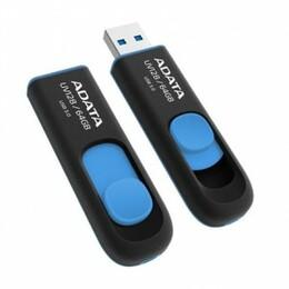 ADATA USB 3.0 Flash Drive DashDrive UV128 64GB USB 3.0 Black+Blue