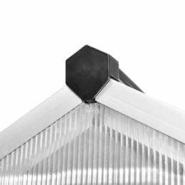 vidaXL vidaXLi tugevdatud alumiiniumist kasvuhoone alusraamiga 7,55 m2