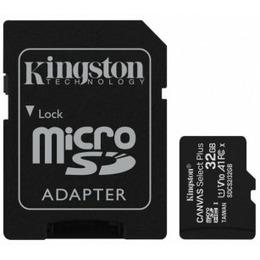 Kingston Canvas Select Plus R100 microSDHC 32GB Kit UHS-I U1 A1 Class 10 3tk + Adapter