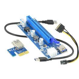 AKYGA Riser PCI-E 1x - 16x AK-CA-64 USB 3.0, 6-pin, SATA, 009s