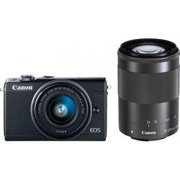 Canon EOS M100 + EF-M 15-45mm + 55-200mm IS STM Black