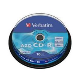 Verbatim CD-R 80/700MB 52X 10pack crystal/AZO cake box