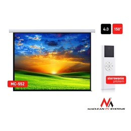 "Maclean Ekraan Electric Projection Screen MC-552 150"" 300x220 4:3 wall or ceiling"