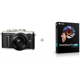 Olympus PEN E-PL8 mikro-peegelkaamera + pannkook-objektiiv + Corel PaintShop Pro 2020 Ultimate