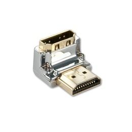 Lindy Adapter HDMI (M) - (F) 90kraadi, nurgaga alla, CROMO