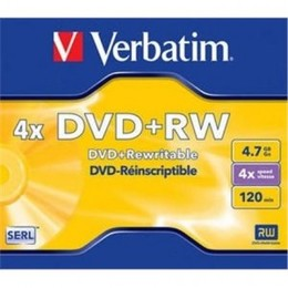 Verbatim DVD+R W 4.7GB 4X matte silver jewel box - 43246