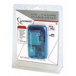 Gembird USB2.0 CF, MD, SM, MS, SD, MMC, XD Card card reader/writer blue